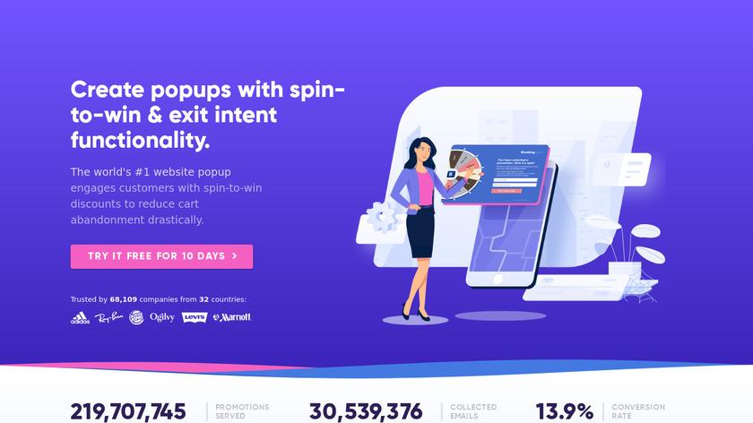 Wheel of Popups Landing Page