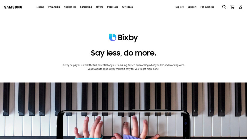 Bixby Landing Page