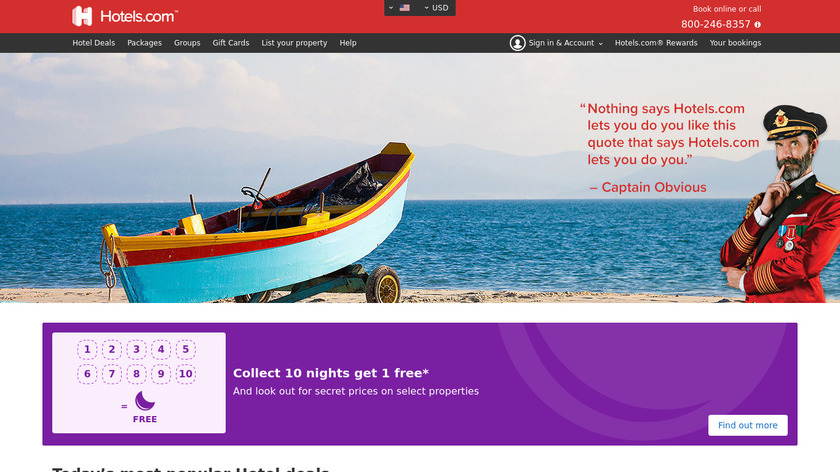 Hotels.com Landing Page