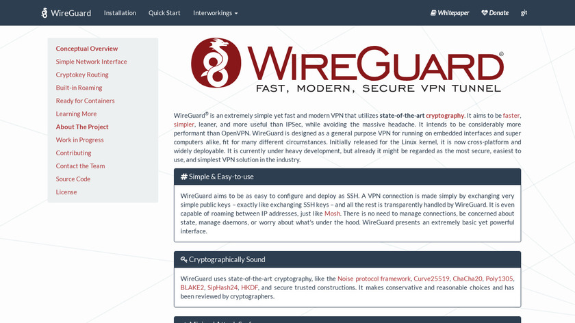 WireGuard Landing Page