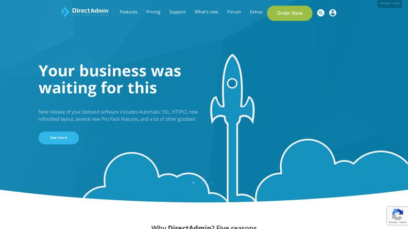 DirectAdmin Landing Page
