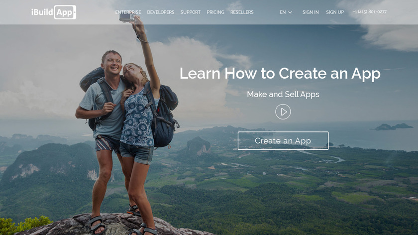 iBuildApp Landing Page
