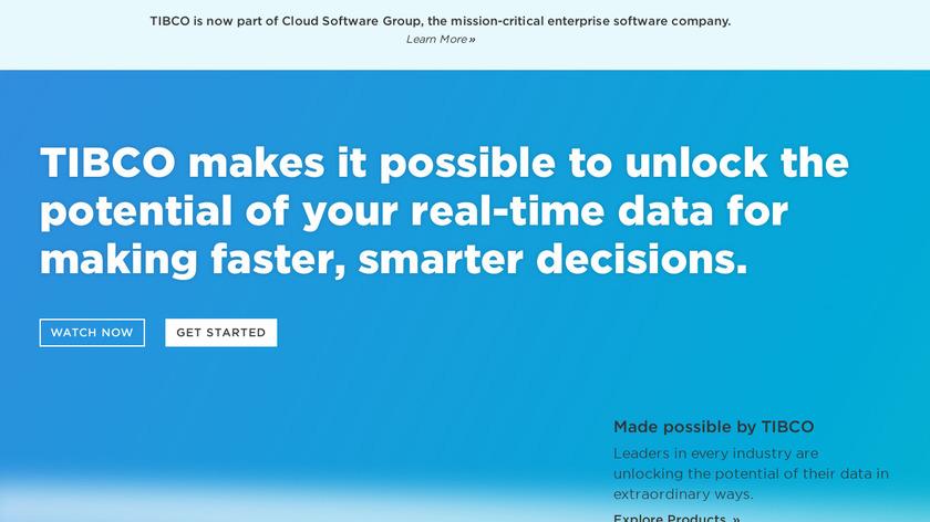 TIBCO Landing Page