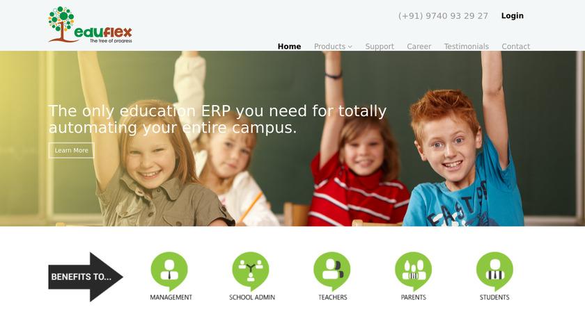 Eduflex School ERP Landing Page