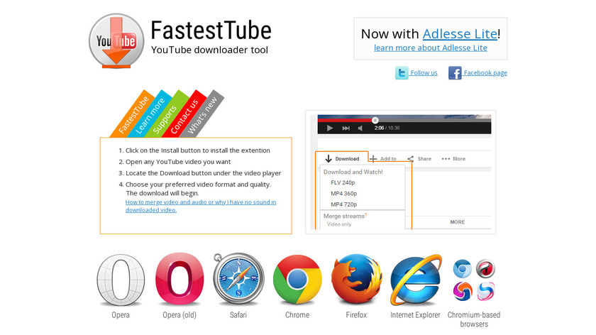 FastestTube Landing Page