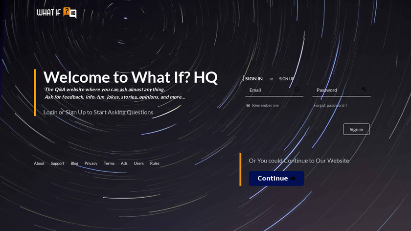 What If HQ Landing Page