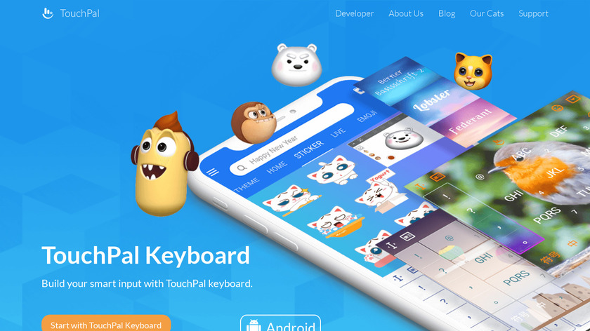 TouchPal Keyboard Landing Page