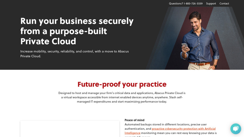 Abacus Private Cloud Landing Page