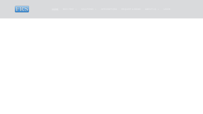 FRS Software Landing Page
