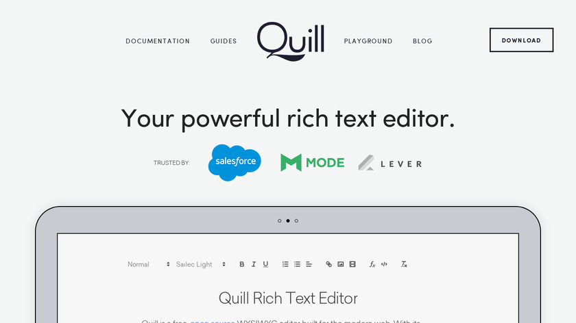 Quill Landing Page