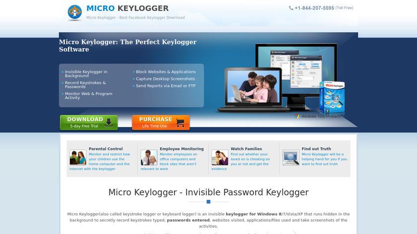Micro Keylogger Landing Page
