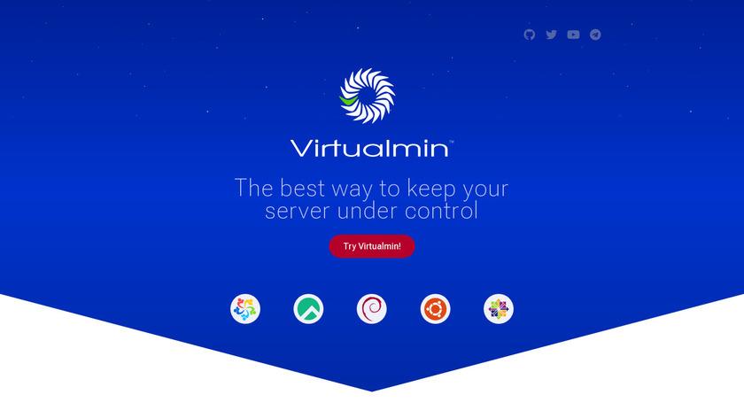 Virtualmin Landing Page
