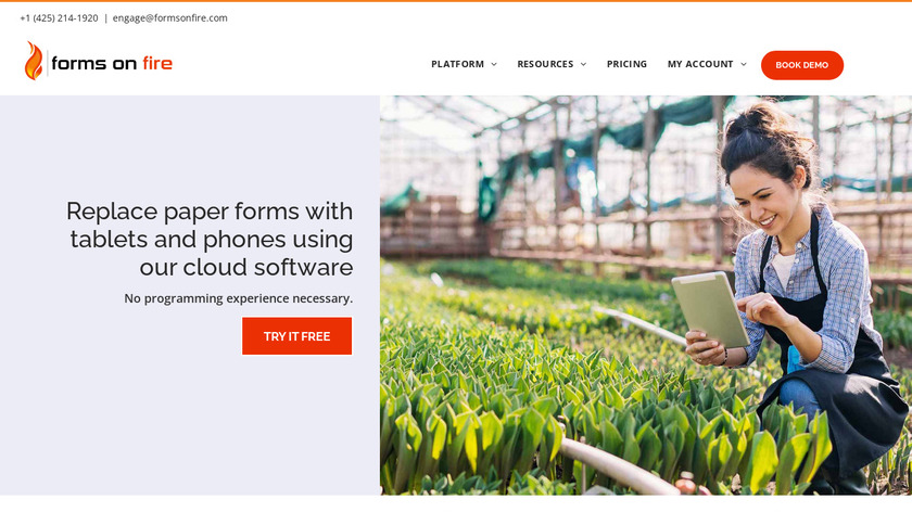 Forms On Fire Landing Page
