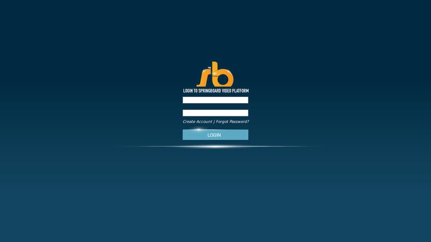 SpringBoard Landing Page