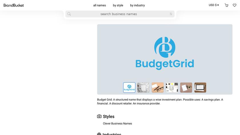 BudgetGrid Landing Page
