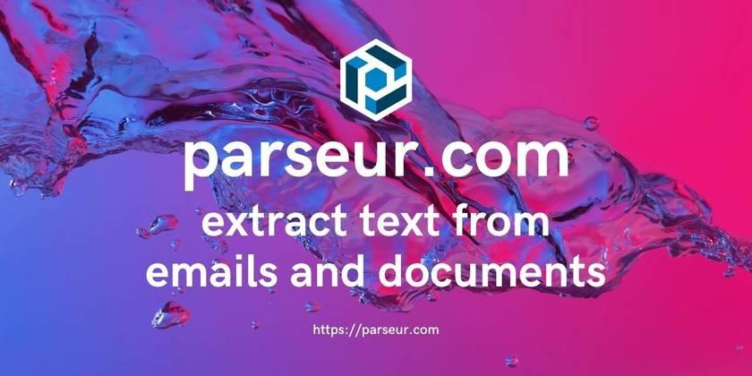 Parseur.com Landing Page