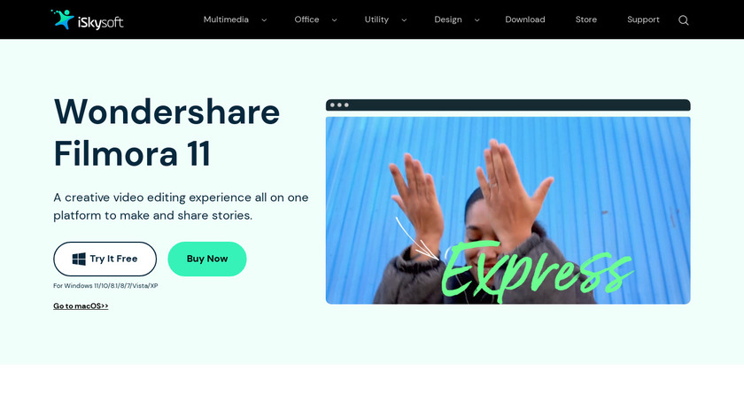 Aimersoft Video Editor Landing Page