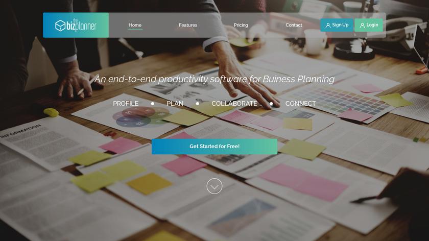 TheBizPlanner Landing Page
