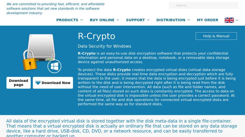 R-Crypto Landing Page