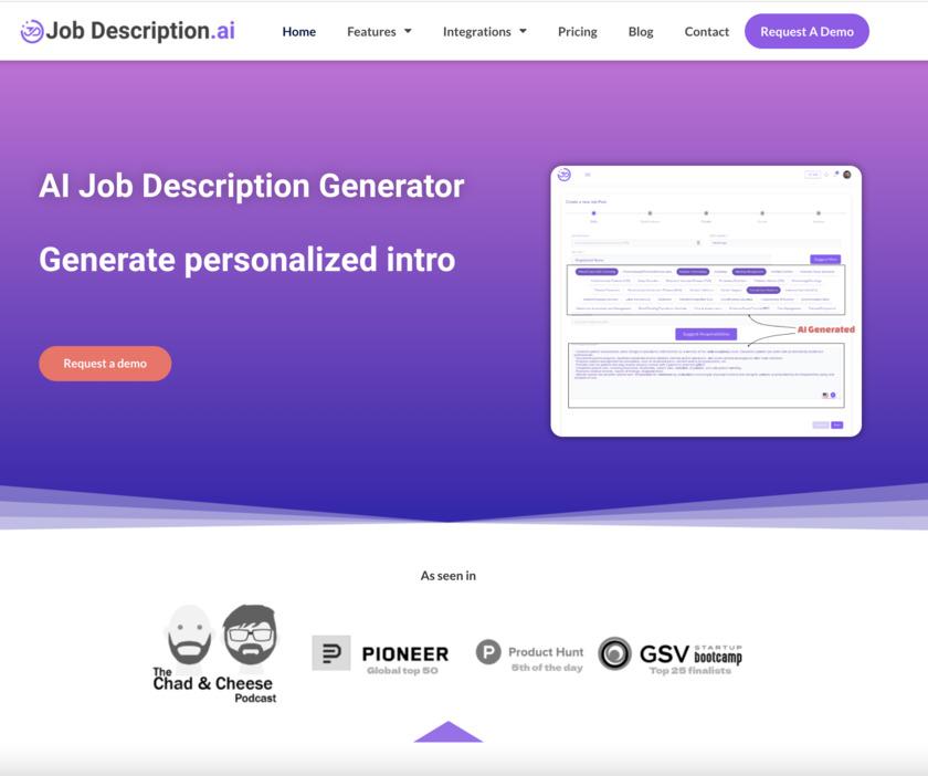 Job Description AI Landing Page