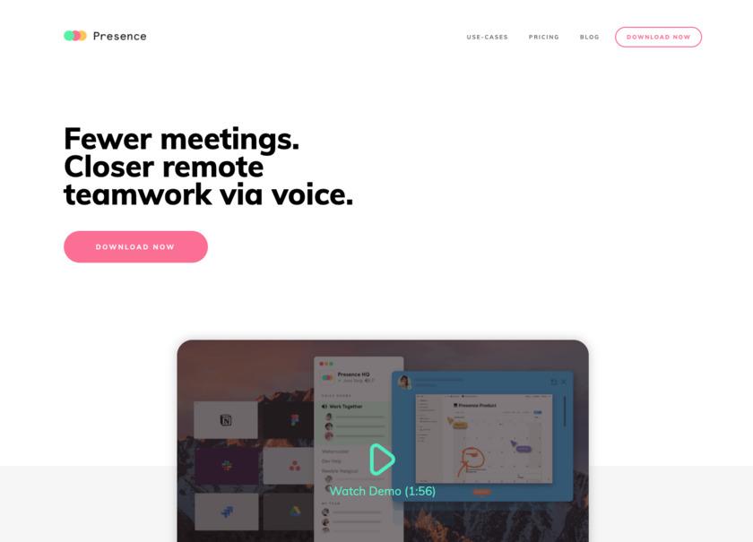 Presence.so Landing Page
