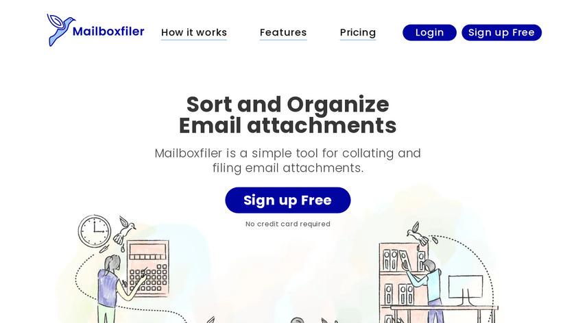 Mailboxfiler Landing Page