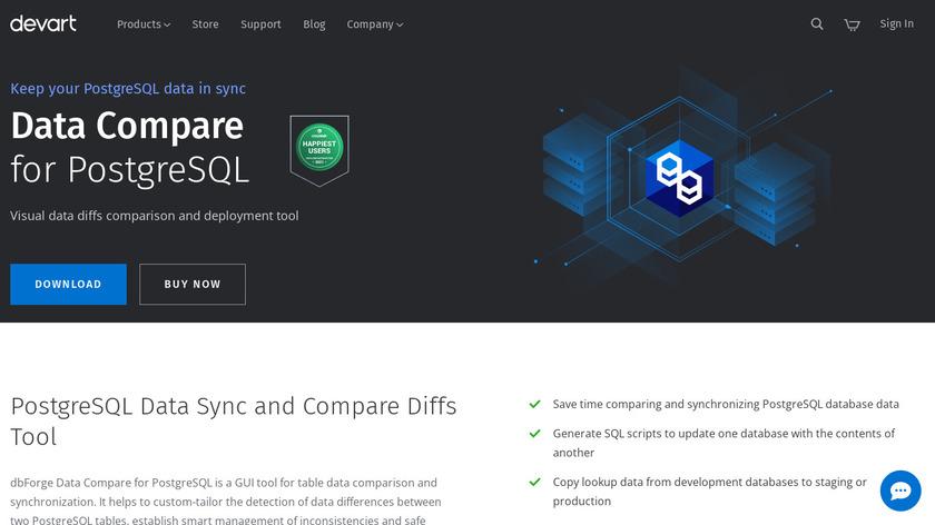 Data Compare for PostgreSQL Landing Page