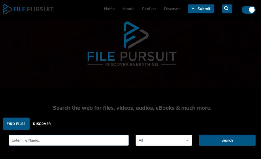FilePursuit Landing Page