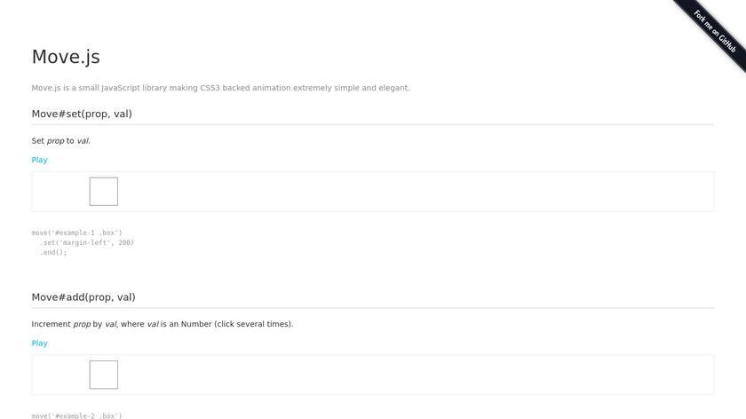 Move.js Landing Page