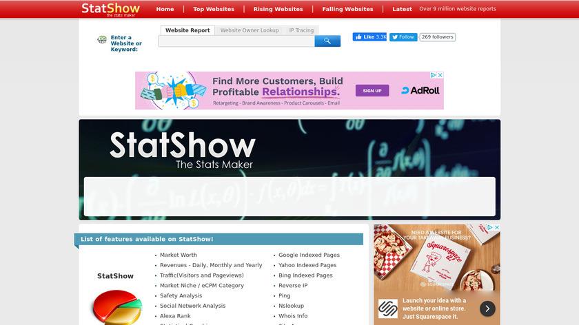 StatShow Landing Page