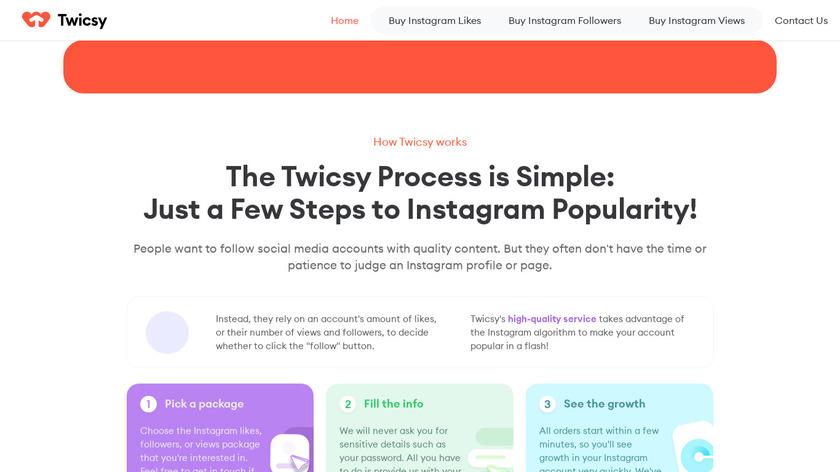 Twicsy Landing Page