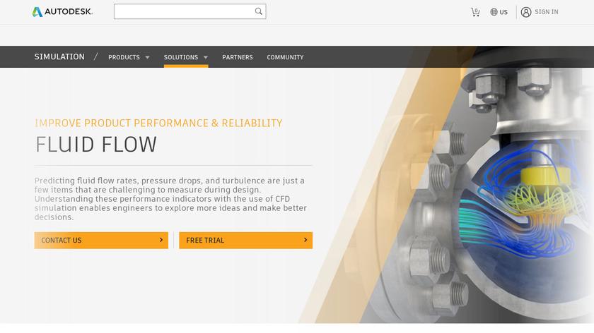 Autodesk Fluid Flow Landing Page