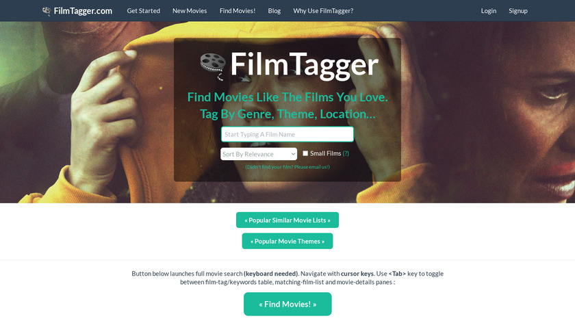 FilmTagger Landing Page