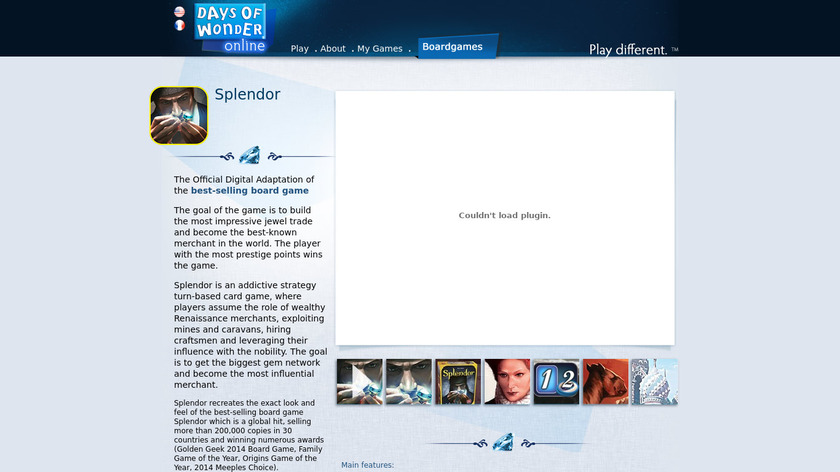 Splendor Landing Page