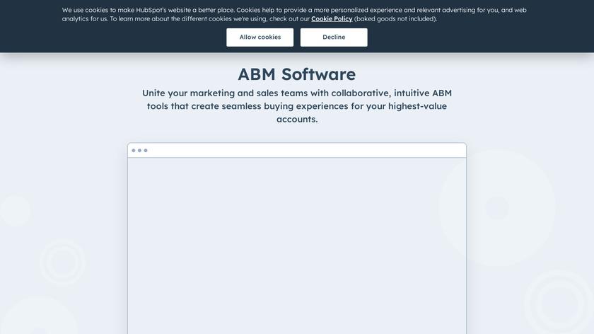 HubSpot ABM Software Landing Page