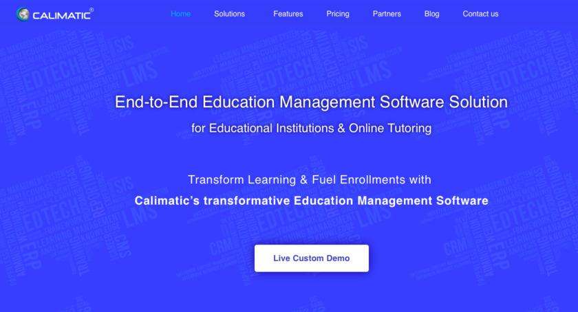 Calimatic EdTech Landing Page