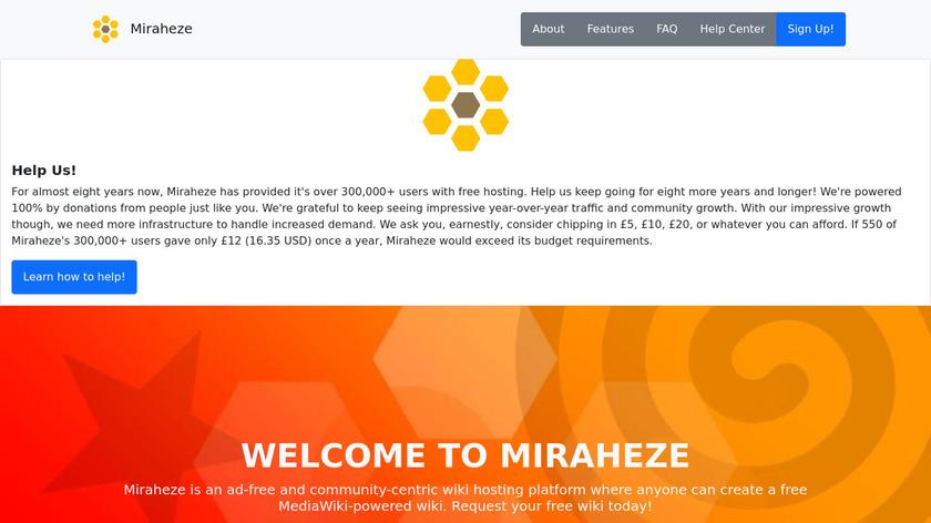 Miraheze Landing Page