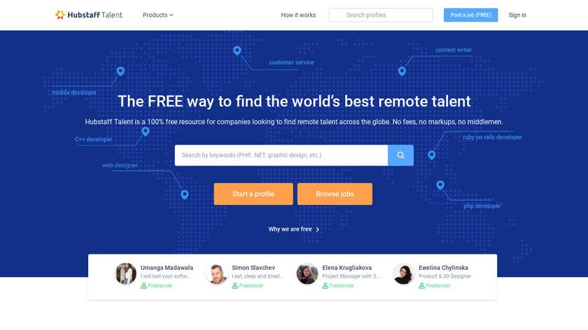 Hubstaff Talent Landing Page