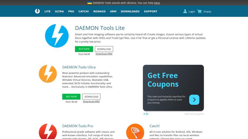 DAEMON Tools Landing Page