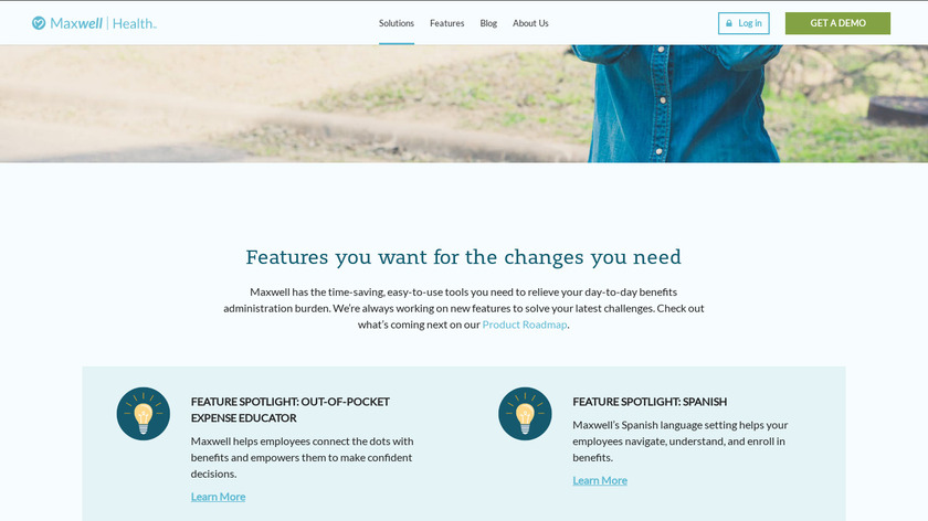 Maxwell Health Landing Page