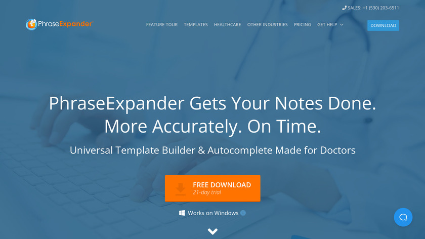 PhraseExpander Landing Page