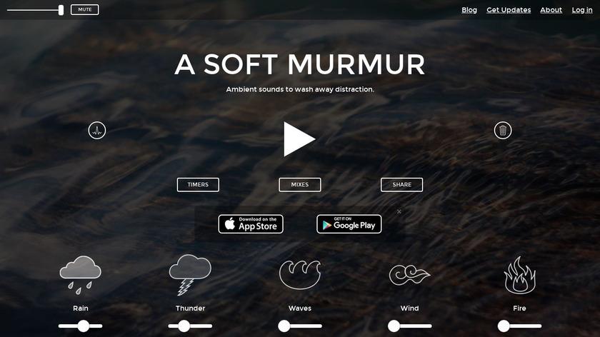 A Soft Murmur Landing Page