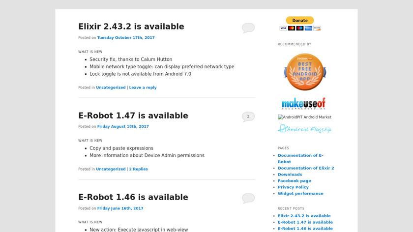 E-Robot Landing Page