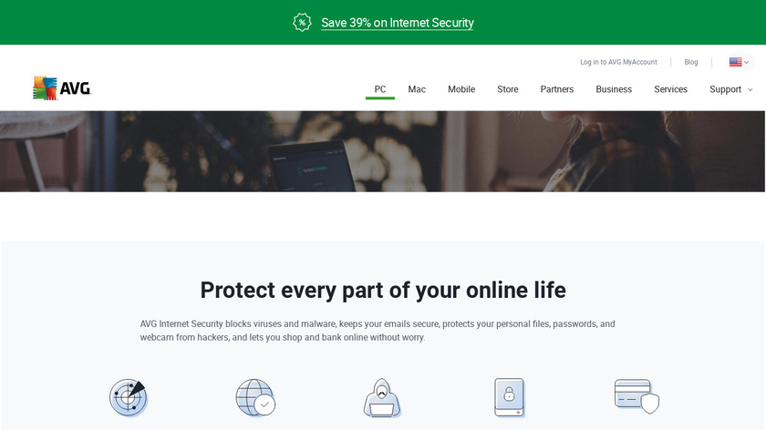 AVG Internet Security Landing Page