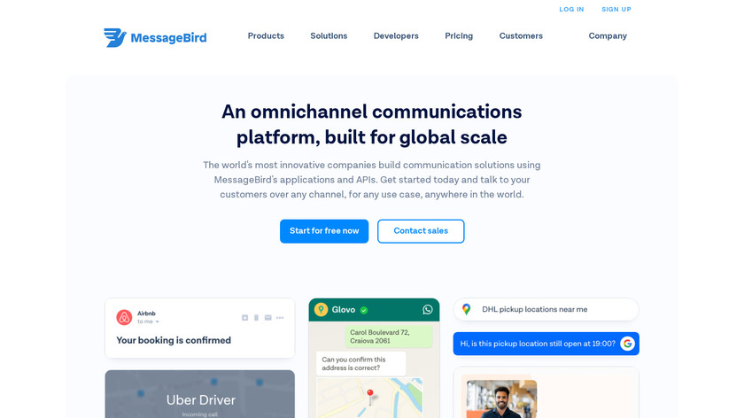 MessageBird Landing Page