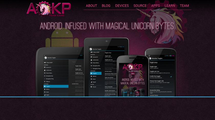 AOKP Landing Page