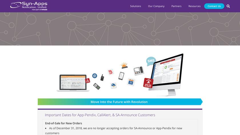 SA-Announce Landing Page