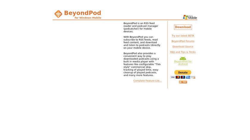 BeyondPod Landing Page