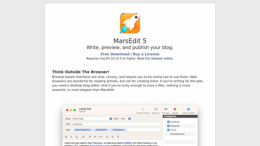 MarsEdit Landing Page