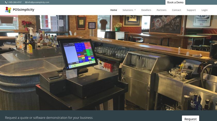 POS simplicity Landing Page